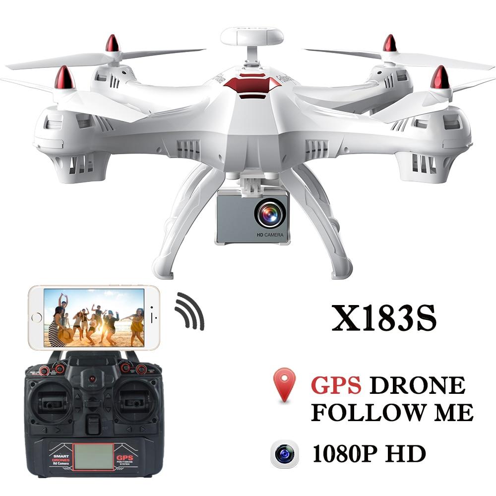купить Drone X183 Professional Dual GPS Follow Me Quadrocopter with Camera HD RTF FPV GPS Helicopter RC Quadcopter VS X8PRO по цене 15279.17 рублей