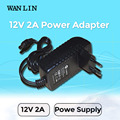 WAN LIN UK US EU Plug Power Supply DC 12V 2A CCTV System Power Adapter for AHD Security Camera IPC