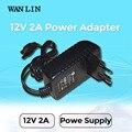 Wan lin reino unido ee.uu. enchufe de la ue sistema cctv fuente de alimentación dc 12 v 2a adaptador de corriente para la cámara de seguridad ahd ipc