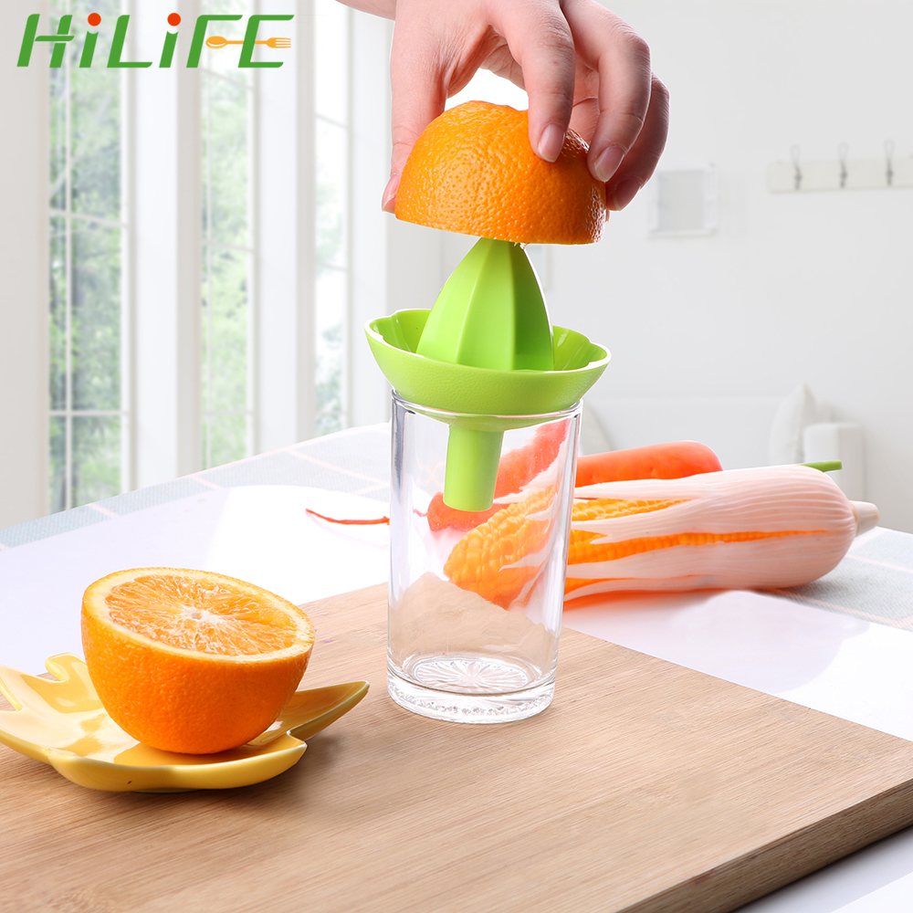 HILIFE Mini Fruit Juice Cup Squeezer With Funnel Cooking Tool Orange Lemon Juice Squeeze Tool Household Manual Juicer 2 In 1