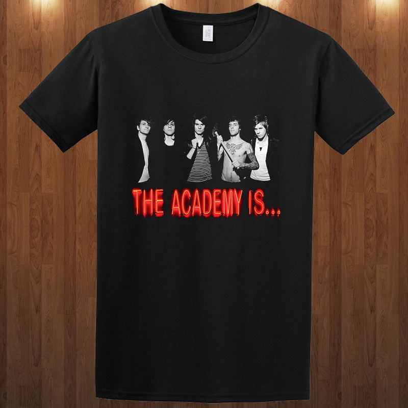 Joke T Shirts Crew Neck Men Short-Sleeve The Academy Is Alternative Rock Band S M L Xl 2-4Xl Graphic Tees