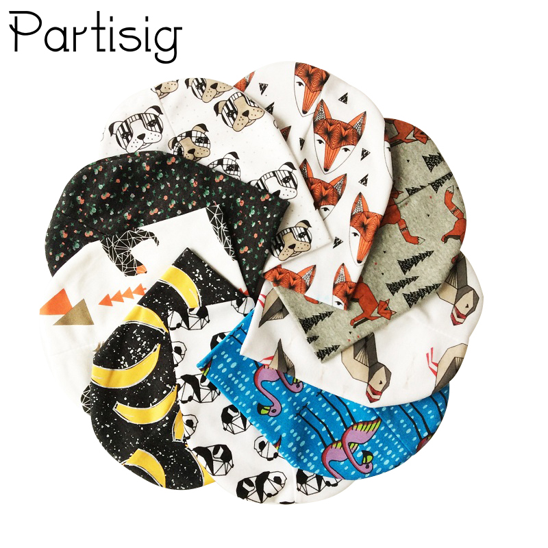 Partisig Brand Baby Caps Cotton Baby Hat Høst Vinter Barneskap Animal Print Baby Boy Caps Beanie Baby Girl Hats
