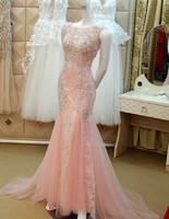 Custom Made Sexy Mermaid Backless Woman Luxury Crystal Evening Dress Evening Gown caftan dubai robe longue soiree XE22