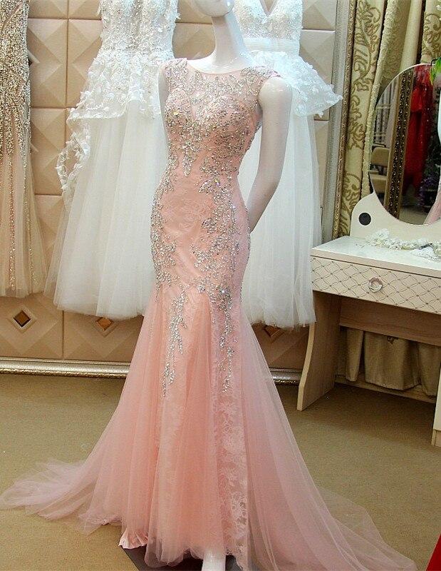 Personnalisé Sexy sirène dos nu femme luxe cristal robe de soirée robe de soirée caftan dubaï robe longue soirée XE22