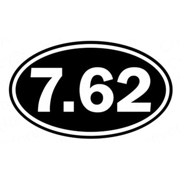 15cmX9.5cm 7.62 Logo Oval Vinyl Decal Car Body Sticker Motorcycle Decal Car Accessories Black/White for Jaguar XF XJ-S Isuzu image