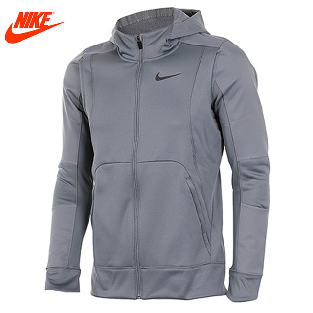 Original Nike men s spring traning hooded comfortable outdoor sporting jacket  Grey Green 57d8629fd