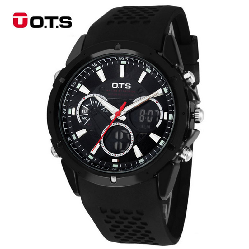 2017 OTS Watches Men Brand Luxury LED Digital Watch Men's Multifunction Sport Watches Relogio Masculino  Waterproof Reloj Hombre toner cartridges for xerox phaser 6010 6000 workcentre 6015 6015v tn for xerox 106r01627 106r01628 106r01629 106r01630 chip