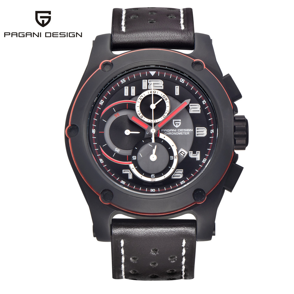 2017 Mens Watches Brand Luxury PAGANI Men Military Sport Luminous Wristwatch Chronograph Leather Quartz Watch Relogio Masculino 2017 jedir mens watches top brand luxury military sport quartz watch chronograph luminous analog wristwatch relogio masculino