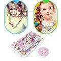 Hot! crianças criativas 24 grids cores doces diy vestir pulseira de miçangas crianças jigsaw puzzle brinquedos personalizados para a menina presente novo venda
