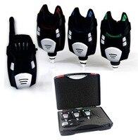 3 + 1 sans fil alarme de morsure de pêche avec la Boîte étanche interchangeables LED pêche à la carpe électronique canne à pêche led lumière