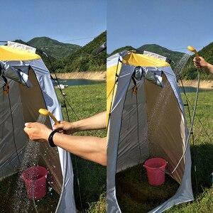 Image 4 - Seyahat Duş Taşınabilir Araba Yıkama 12 V Elektrikli araba girişi Açık Kamp Zammı Yıkama Pompası için Kamp Duş pompa borusu Kiti Kanca
