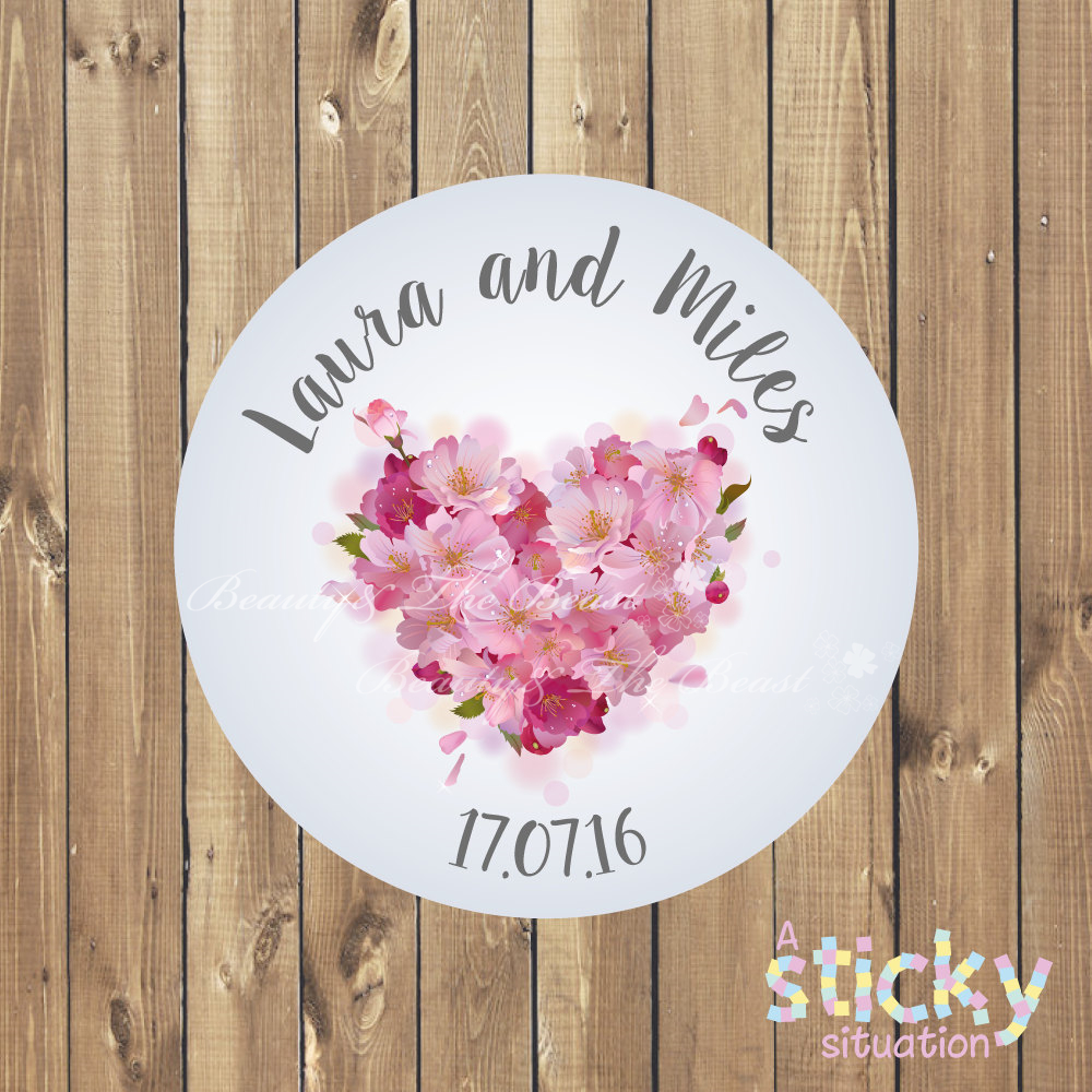 Aliexpress.com : Buy Custom Love Heart Wedding Sticker,Bottle Labels ...
