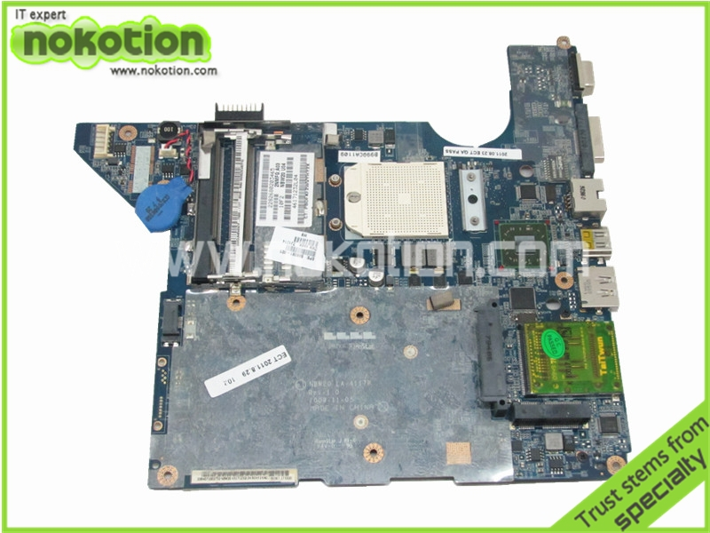 NOKOTION 598091-001 LA-4117P for HP PAVILION DV4-2000 MOTHERBOARD 216-0752001 <font><b>DDR2</b></font> send cpu image