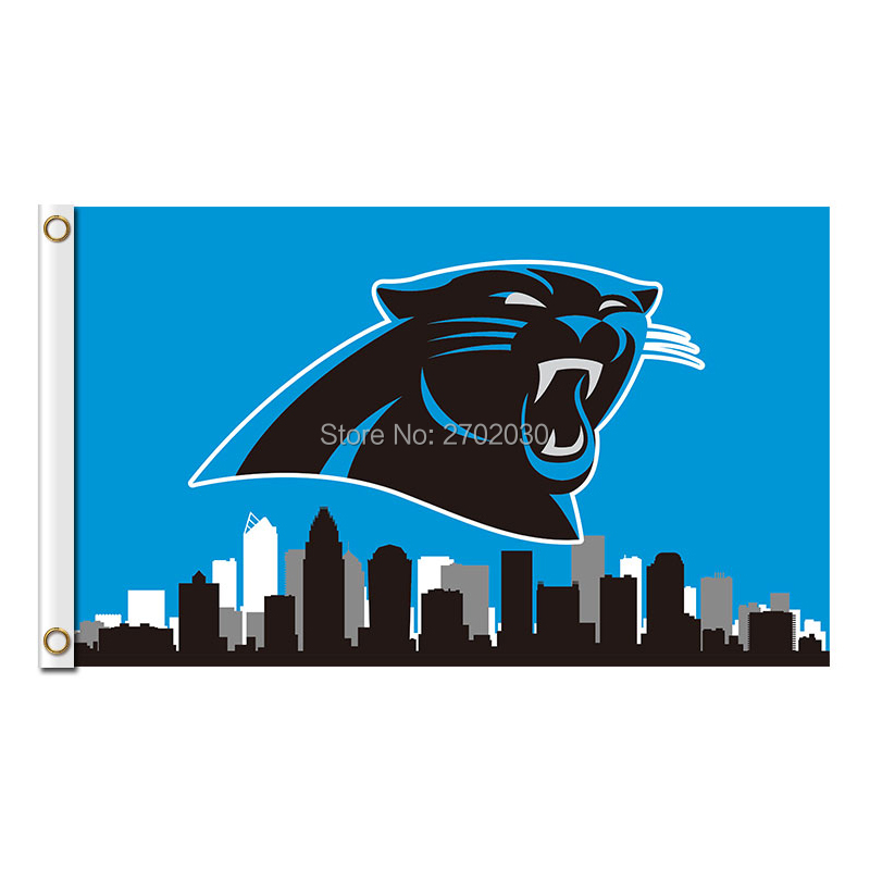 Discount City Country Carolina Panthers Flag Football Team 3ft X 5ft Banners  hot sale