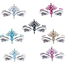 1PC Face Jewels Crystal Temporary Eyes Tattoos Face Gems Rhinestone Temporary Tattoo Fashion Diy Face Sticker Party Body Glitter все цены