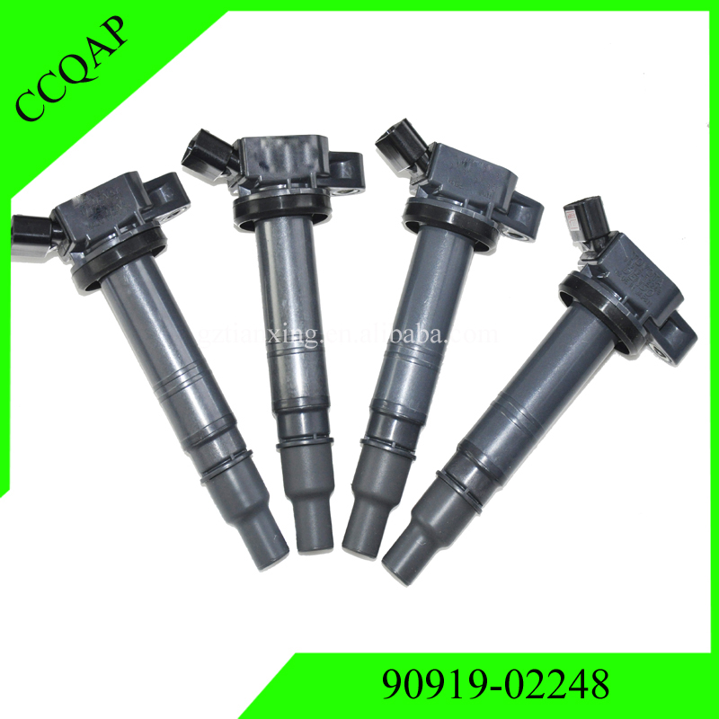 4x Free Shipping <font><b>90919</b></font> <font><b>02248</b></font> Ignition Coil for Toyota 4Runner Tundra Tacoma FJ Cruiser Lexus IS F <font><b>90919</b></font>-<font><b>02248</b></font> image