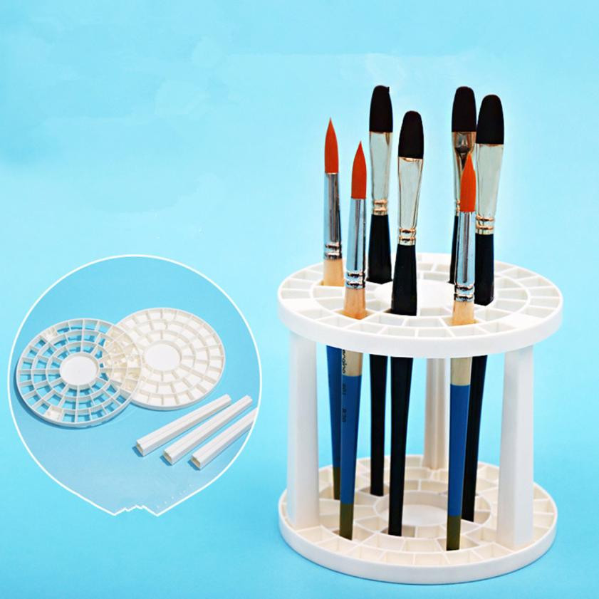 49 Holes Makeup Brush Organiser Cosmetic Holder Makeup Display Rack Box storage box rangement maquillage#212 easy install brush drying rack tree for different standard holes random color