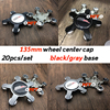 Car Styling 20X 5claws 135MM Wheel Center Hubcap Badge Rim Cover Dust-proof SSR Emblem Sticker Accessorie for Universal car