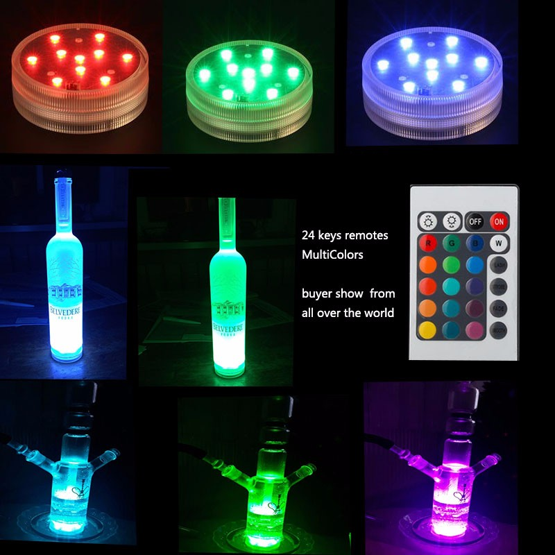 navidad decoraciones para el hogar!12 pcs /lot AA batteries Operated Submersible Multicolors RGB LED Vase Light celebration