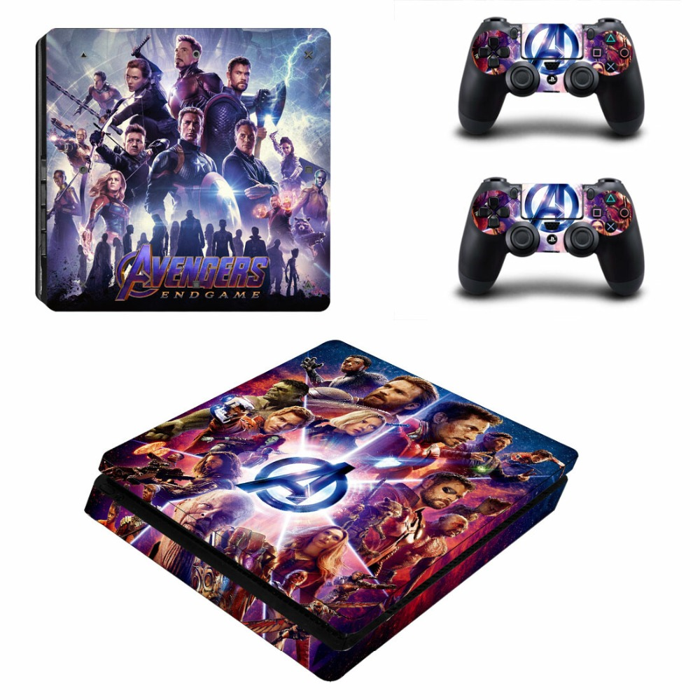 Avengers: Endgame PS4 Slim Stickers Skin For Sony PlayStation4 Slim PS 4 Slim Console and Controller Skins Vinilo Sticker image