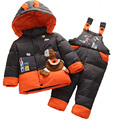 Thick Down Jacket Infant Kids Removable Romper Boys Girls Coat Duck Down Snow Wear Children Winter Jacket 3 Way To Wear