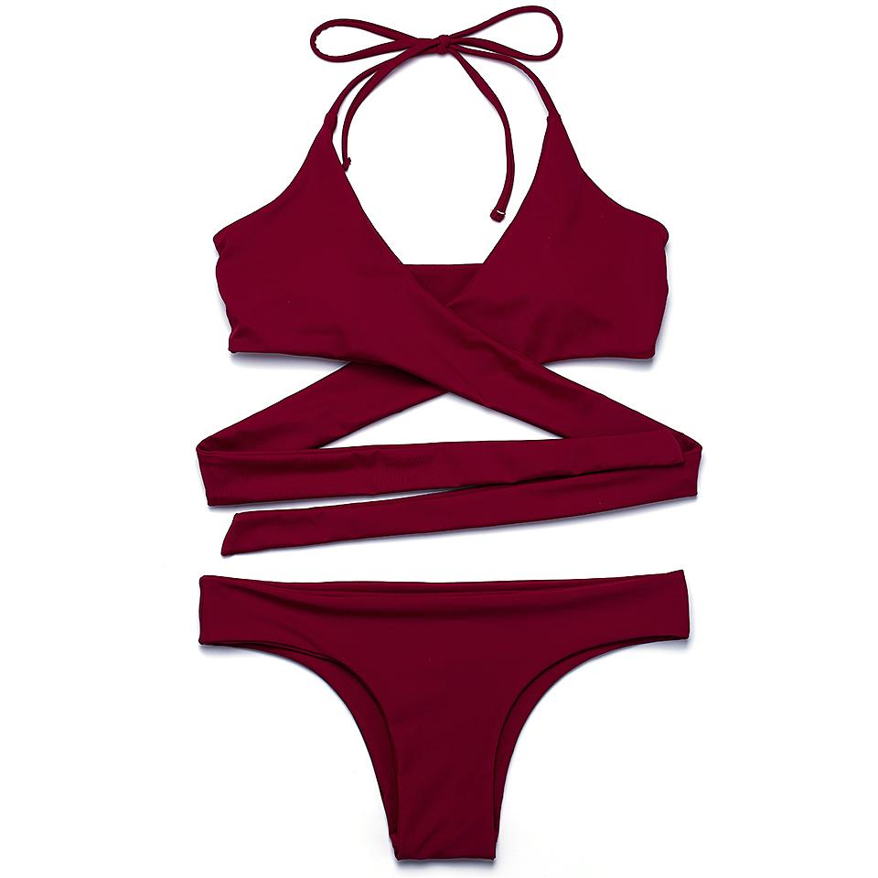 HTB11T6LPVXXXXXRXXXXq6xXFXXXV - FREE SHIPPING Swimsuit Sexy Halter Swimwear Women Bathing Suit Push Up Strappy Bikini Set JKP268
