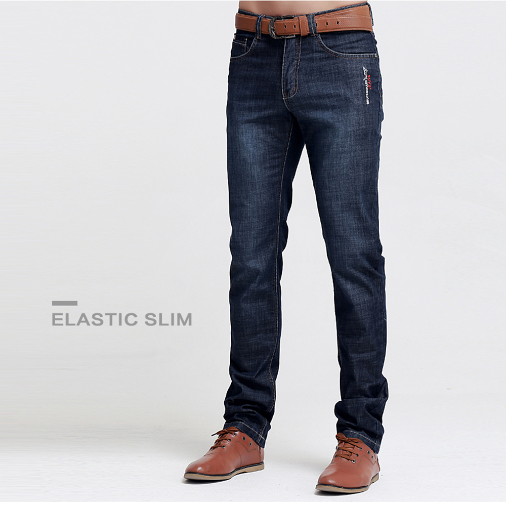 Bruce&Shark New Jeans Men Fashion Casual High Quality Embroidery Straight Leg Cotton Lightweight Men Jeans SIZE 28 TO 42 8006
