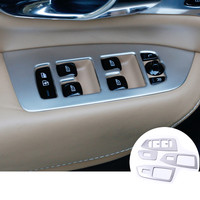 Stainless Car Door Armrest Window Switch Cover 4pcs For VOLVO XC90 2016 2017