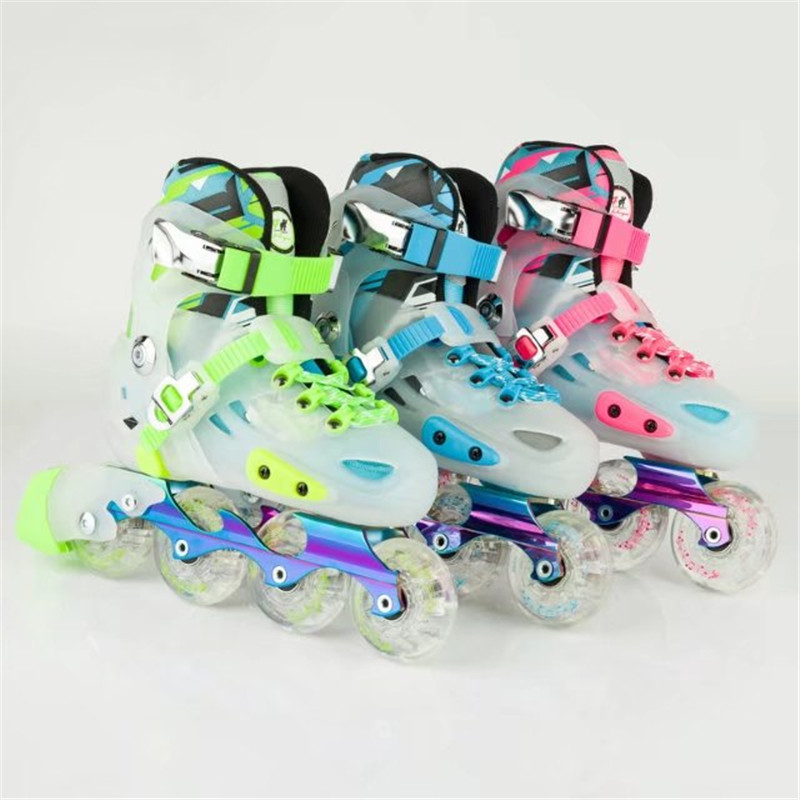Premium Kids' Sneaker Inline Skates Shoes for age 8 to 15 Years Old Skating Shoes Outdoor Sports Shoe Size S M Europea 29 to 36 girls and ladies favorite white roller skates with full grain genuine leather dual lane roller skate shoes for adult skating