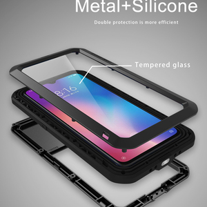Image 5 - LOVE MEI For Xiaomi Mi 9 Case Gorilla Glass Life Waterproof Shockproof Metal Full Protectve Case for Xiaome mi9 phone cover case