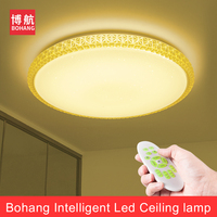 LED Ceiling Light Lamp 60W Smart Remote Control Living Room Bedroom Acrylic Dimmable Surface Mounted Led