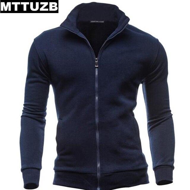 MTTUZB мужчин случайные длинный рукав кардиган мужская спортивная одежда мужчина толстовки мужской тонкий sweatershirts одежда сплошной цвет M-XXXL