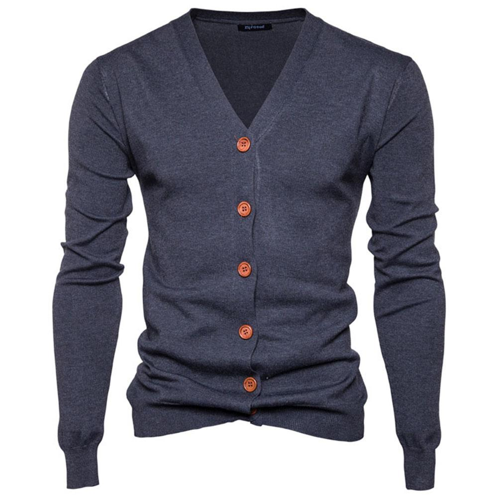Dependable Zacoo Men Casual Knitted V-neck Cardigan Coats Knitting Slim Fit Sweater Coat Jacket Tops San0 Comfortable Feel
