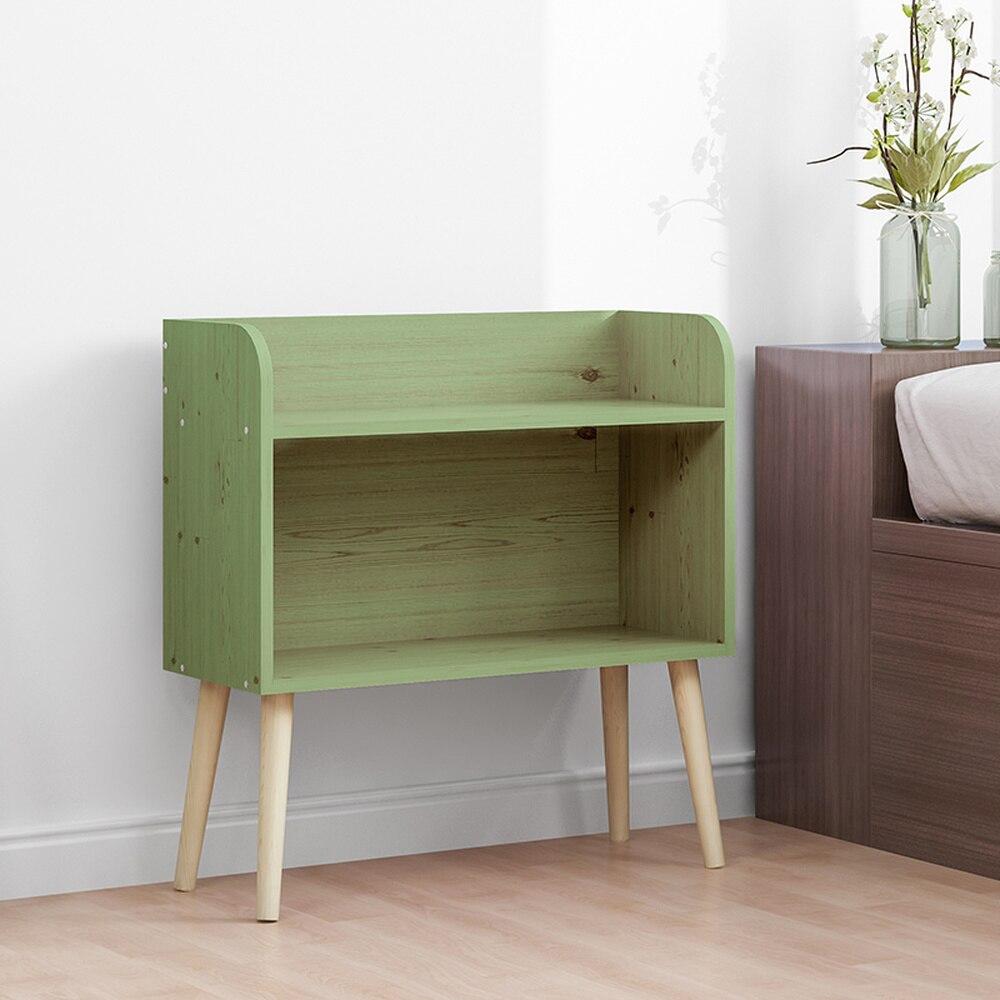 Desembarque pernas de madeira maciça estante pequena estante simples prateleira casa os alunos usam a rede armário de cabeceira moderna LM01041159