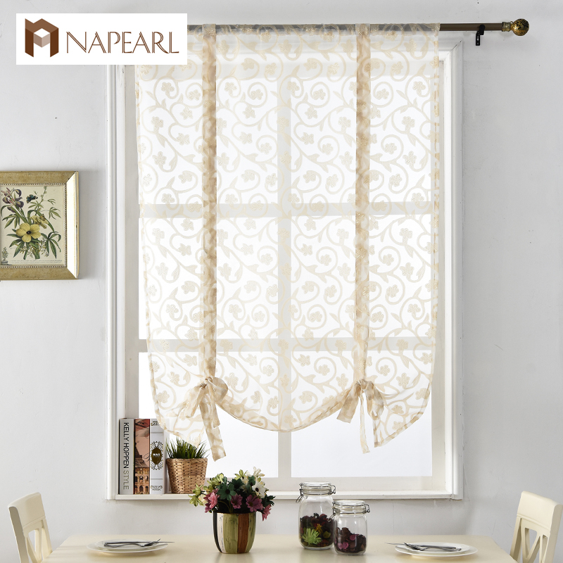 Kitchen Curtain Fabric: NAPEARL Kitchen Curtains Short Roman Curtains Butterfly