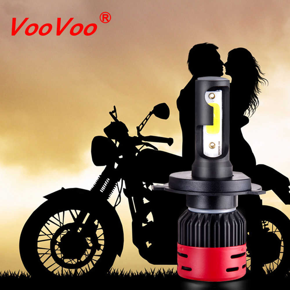 VooVoo H4 LED Motorcycle Scooter Light Bulb Motorbike H4 Led Headlight Motorcycle HS1 Moped Light Bulbs Moto Accessories DC 12V