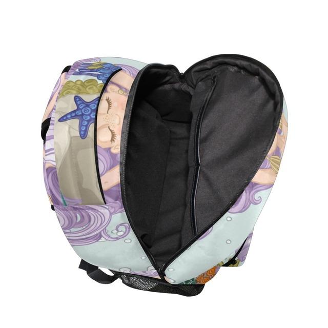 ALAZA New Arrvial Mermaid Printing Backpack Women Girls Big Capacity Fish Tail Travel Bag Student School Bag Laptop Backpack