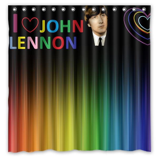 John Winston Lennon Impreso Cortinas De Ducha Productos de baño de Tela de Polié
