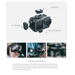 Image 3 - PGYTECH Camera Cage Accessory Protection Housing Frame Case Universal Interface Expansion Accessories for DJI OSMO Action