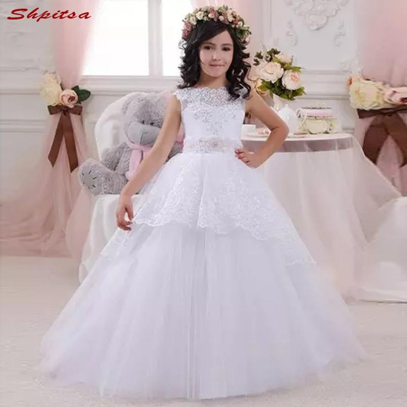 White Flower Girl Dresses for Weddings Wedding Tulle Kids First ...