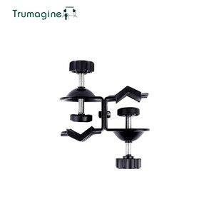 Image 3 - TRUMAGINE זוגי Heavy Duty מהדק C U קליפ תאום עבור אביזרי תמונת סטודיו אור stand עבור ירי צילום סטודיו פלאש
