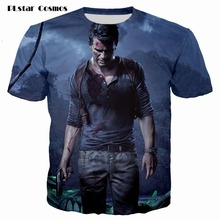 цены на PLstar Cosmos brand T shirt Uncharted Print 3d t shirt Men/Women hop hip T-shirt Summer Short Sleeve Tops Tees plus size S-5XL  в интернет-магазинах