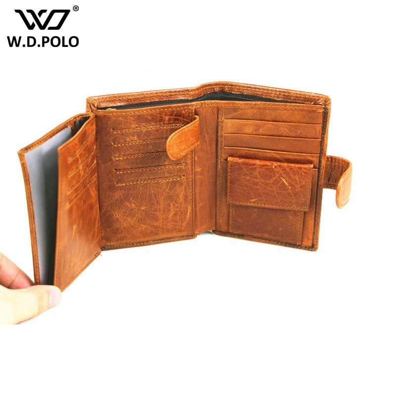 WDPOLO Minimalist Vintage men wallet new cow leather design men purse Slim Thin Mini Wallet Male Small Purse Money bags C244