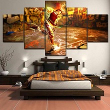 Canvas Wall Art Pictures Living Room Home Decorative HD Prints Poster 5 Piece Abstract Graffiti Man Painting Framework