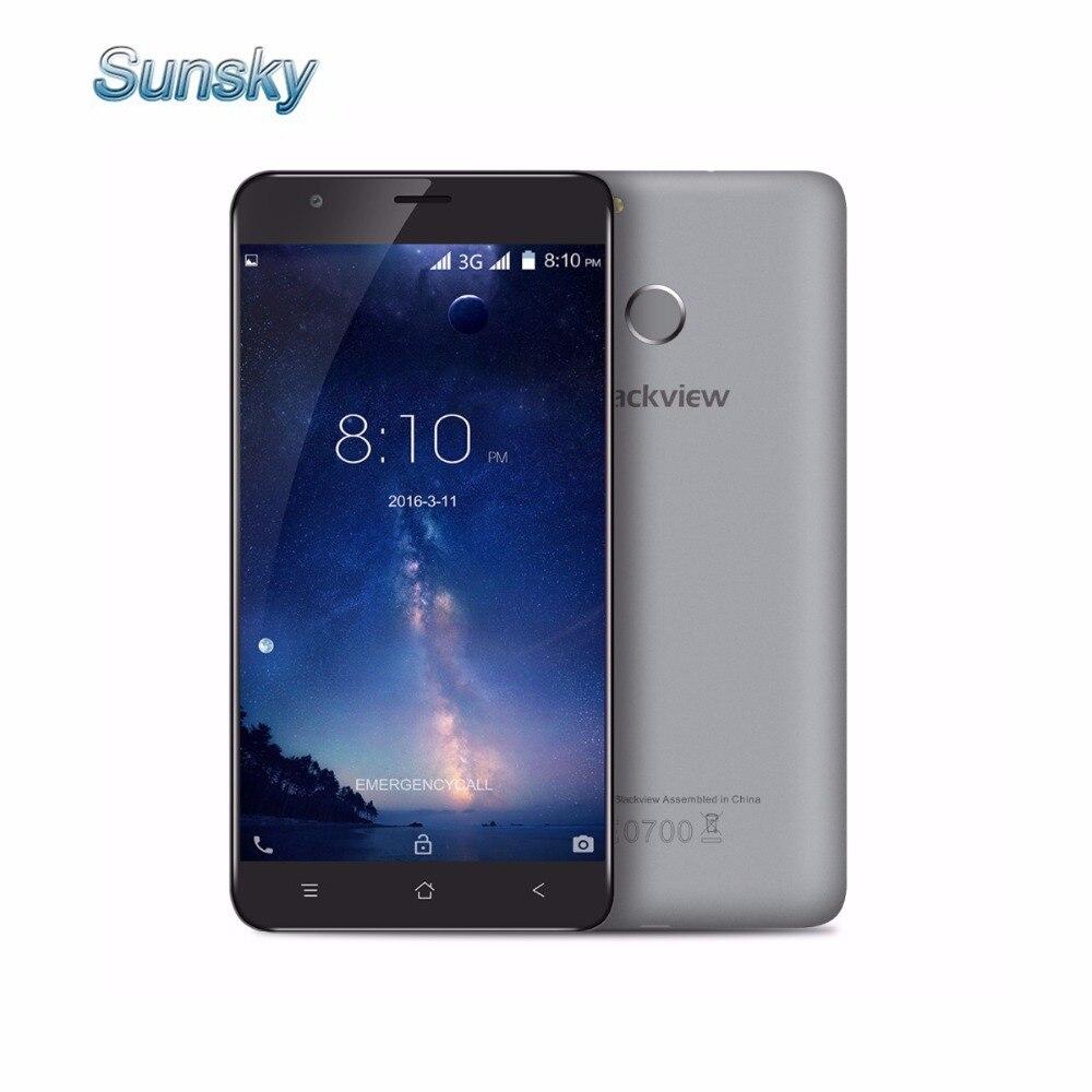 Цена за Оригинал blackview e7s e7 5.5 дюймов android 6.0 смартфон 2 ГБ оперативной памяти 16 ГБ rom mtk6580 quad core 1.3 ГГц 8.0mp touch id мобильный телефон
