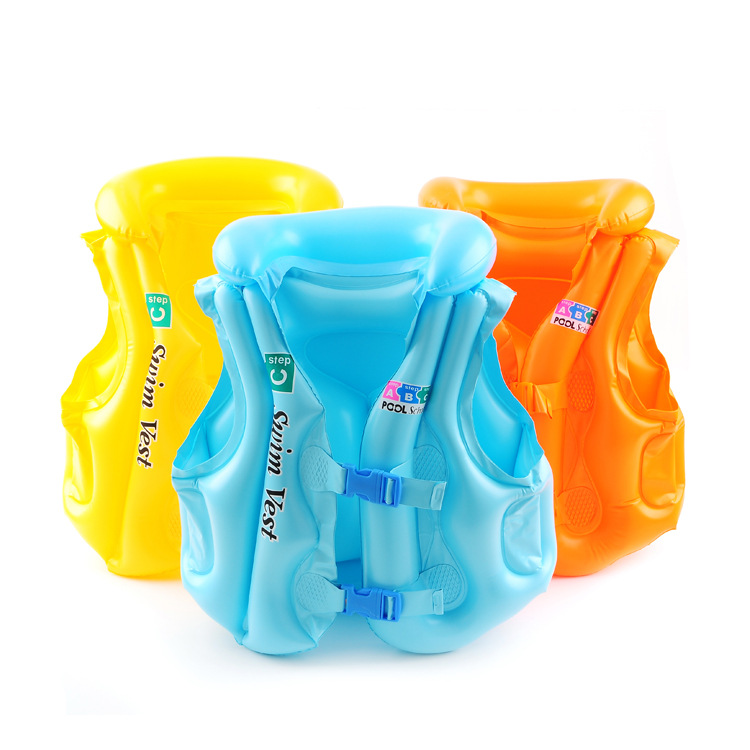PVC Inflatable Swimwear for Children Baby Swimwear Float Safety Swimming Inflatable Vest Buoyancy Life Jacket Swimming Pool Toy