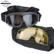 Military Tactical Goggles Glasses Paintball-Eyewear Eye-Protection Wargame Shooting-Hunting