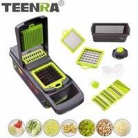 TEENRA 7 In 1 Multi functional Vegetable Slicer Mandoline Slicer Kitchen Cutter Potato Masher Carrot Shredder Grater Tools