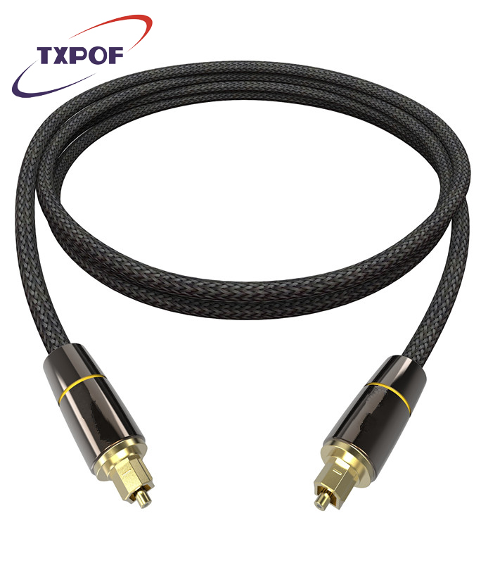 TXPOF Toslink Nylon Braided Optical Digital Audio Fiber Cable Coaxial Cable Gold Plated S/PDIF For PS4  DVD Xbox Blu-ray Player
