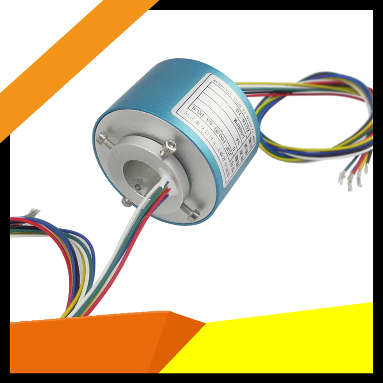 Through Hole Slip Ring Inner Hole 12.7mm Hollow Slipring 2/4/6/8/10/12 Channels Aluminum Alloy Shell Electric Collection Rings hole hole live through this